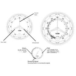 Modo de empleo Reloj auto calibrable digital y analógico Ref. 40-2711 - 40-2712